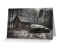 'Stone and sauna - pure Finland' Greeting Card