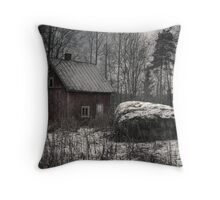 'Stone and sauna - pure Finland' Throw Pillow