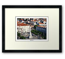 Pixel Art Cities: Lisbon Framed Print