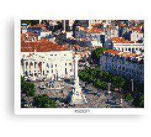 Pixel Art Cities: Lisbon Canvas Print