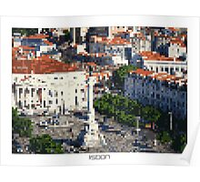 Pixel Art Cities: Lisbon Poster