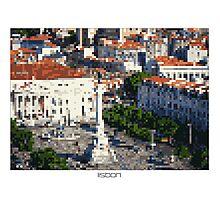 Pixel Art Cities: Lisbon Photographic Print
