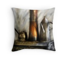 The Stove and Kettle Throw Pillow