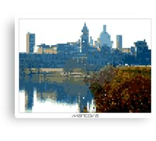 Pixel Art Cities: Mantova Canvas Print