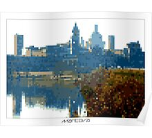 Pixel Art Cities: Mantova Poster