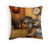 In the office Throw Pillow