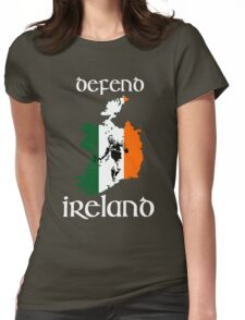 defend ireland - flag Womens Fitted T-Shirt