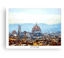 Pixel Art Cities: Florence Canvas Print