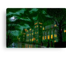 Yorkshire College by Moonlight Canvas Print