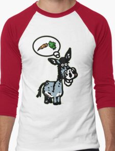 The Carrot by Cheerful Madness!! Men's Baseball ¾ T-Shirt
