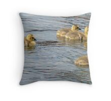 Gold On The Water Throw Pillow