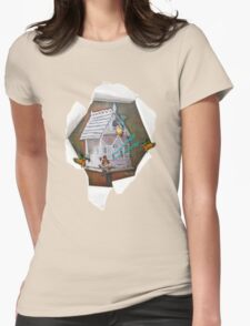 The Leprechaun Reader Womens Fitted T-Shirt