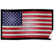 Stained Glass United States USA Flag Poster