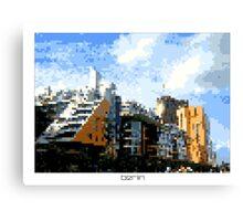 Pixel Art Cities: Berlin Canvas Print