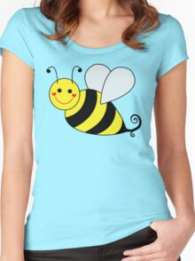 Bumble Bee Graphic Women's Fitted Scoop T-Shirt