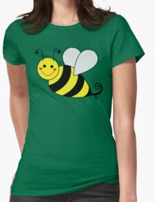 Bumble Bee Graphic Womens Fitted T-Shirt