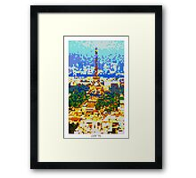 Pixel Art Cities: Paris Framed Print