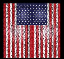 Stained Glass United States USA Flag by O O