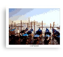 Pixel Art Cities: Venice Canvas Print