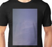 Light blue sky with clouds Unisex T-Shirt