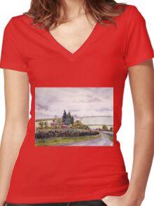 Enthorpe Old Station Women's Fitted V-Neck T-Shirt