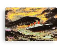 RMS Titanic in the Style of the Masters Canvas Print