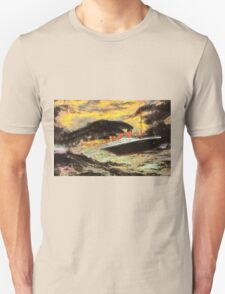 RMS Titanic in the Style of the Masters T-Shirt