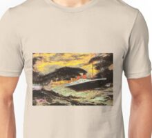 RMS Titanic in the Style of the Masters Unisex T-Shirt