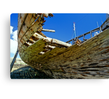 Wreck of the port of Camaret  Canvas Print