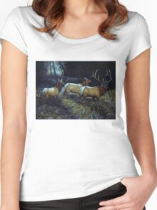 """""""Forest Royalty"""" Women's Fitted Scoop T-Shirt"""