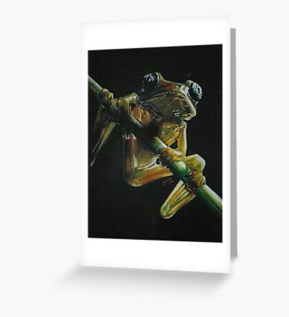 Glass Large-Eyed Frog Greeting Card