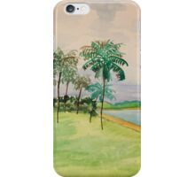 Palm Trees on the Beach iPhone Case/Skin