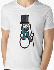 Snowbody likes me Mens V-Neck T-Shirt
