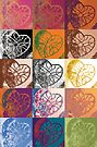 Heart to Heart Rendition, 5x3=15  by Kerryn Madsen-Pietsch