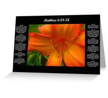 Matthew 6:24-34 Greeting Card