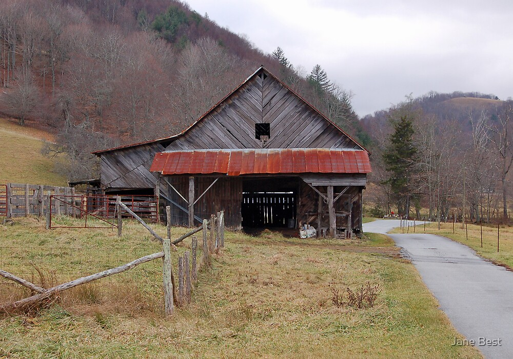 Blue Ridge Mountain Barn by Jane Best