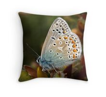 Common Blue Throw Pillow