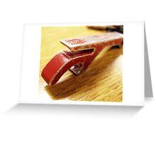 Red Stripe Greeting Card