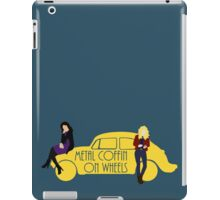 Metal Coffin On Wheels iPad Case/Skin