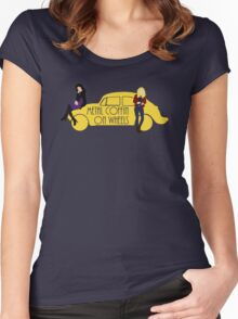 Metal Coffin On Wheels Women's Fitted Scoop T-Shirt