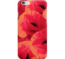 Summer pattern with poppies iPhone Case/Skin