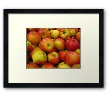 Apples to Apples Framed Print
