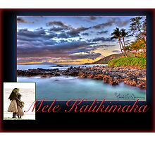 Christmas in Hawai'i - Mele Kalikimaka Card Photographic Print