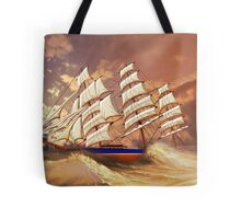 Cutty Sark in Heavy Seas Tote Bag