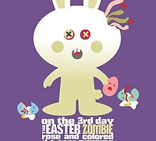 cute zombie bunny eating Easter egg brains by BigMRanch