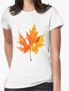 autumn maple-leaf Womens Fitted T-Shirt