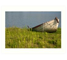 Lone Rowboat Art Print