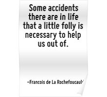 Some accidents there are in life that a little folly is necessary to help us out of. Poster