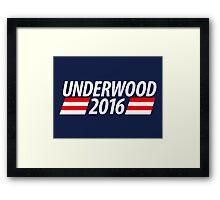 Underwood 2016 shirt campaign poster mug Framed Print