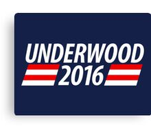 Underwood 2016 shirt campaign poster mug Canvas Print